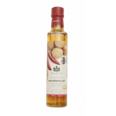 Brookfarm Lime & Chili Infused Macadamia Nut Oil , 8.5-Ounce Bottles (Pack of 3)
