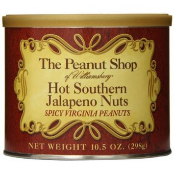 The Peanut Shop of Williamsburg Hot Southern Jalapeno Nuts, 10.5 Ounce