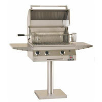 Solaire 27-Inch Deluxe InfraVection Propane Bolt-Down Post Grill with Rotisserie Kit, Stainless Steel
