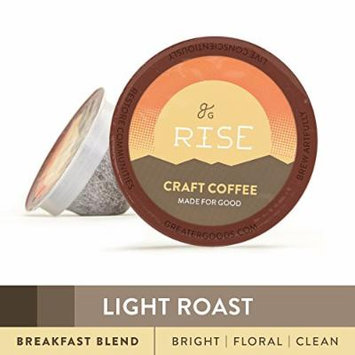 Specialty Grade Coffee For Keurig K-Cup Brewers: 72-Count Light Roast Breakfast Blend. 1.0 and 2.0 Compatible. Premium Quality, Eco-Friendly 100% Arabica Single-Serve Coffee by Greater Goods