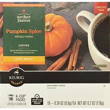 18 K-Cup Archer Farms Keurig Coffee Pumpkin Spice, Light Roast, One - 6.2oz Box