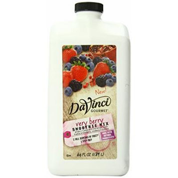 DaVinci Natural Fruit Smoothies Very Berry, 64 Ounce