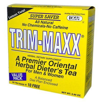 Body Breakthrough Diet Trim-Maxx Tea Lemon - 60 Tea Bags (Pack of 3)