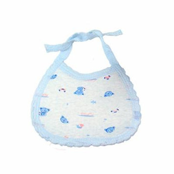 10 Pack Strong Water Absorption Baby Bibs (Blue)