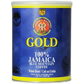Reggie's Roast 100% Jamaica Blue Mountain Gold Whole Bean Coffee, 12-Ounce Can
