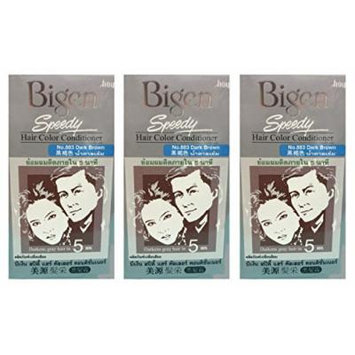 3 BOXES of BIGEN SPEEDY Dark Brown No.883 Hair Color Conditioner. Darkens grey hair in 5 min