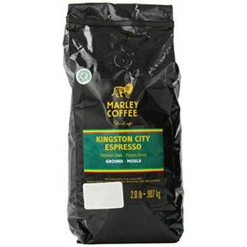 Marley Coffee Ground Coffee, Kingston City Espresso, 2 Pound