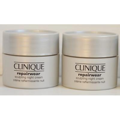 2x Clinique Repairwear Sculpting Night Cream Deluxe Travel Size .5oz/15ml, Totals 1oz/30ml