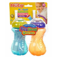 Nuby No-Spill FlexStraw Sippers 2-Pack - orange, one size