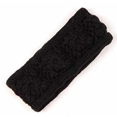 Nirvanna Designs Flower Crochet Headband, Black
