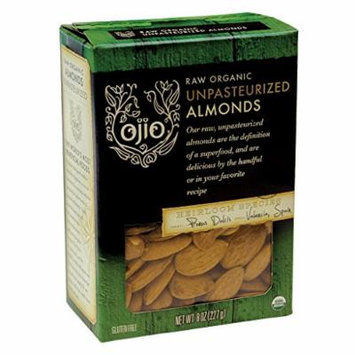 Ojio Organic Almonds - Unpasteurized Raw - 8 oz