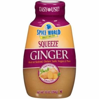 Spice World Squeezeable Premium Ground Ginger, 10 Ounces (1 Pack)
