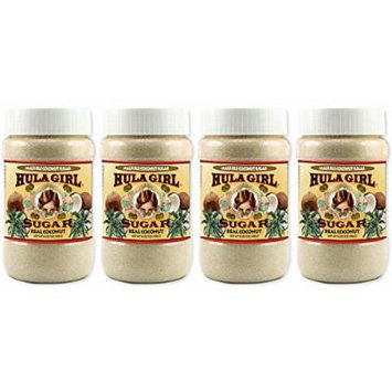 Hula Girl Maui Isle Coconut Sugar - 4Jars