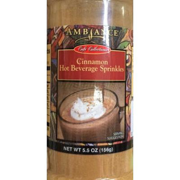 5.5oz Ambiance Coffee Collections Hot Beverage Sprinkles, Cinnamon, Pack of 1