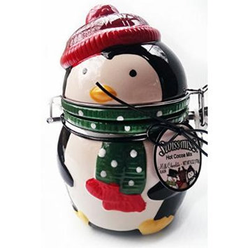 Swiss Miss Milk Chocolate Hot Cocoa in Adorable Holiday Ceramic Canister (Characters Vary)