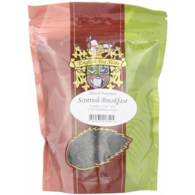 English Tea Store Loose Leaf, Scottish Breakfast Tea Pouches, 4 Ounce