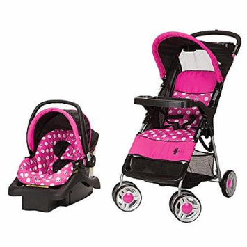 Disney Baby Travel System Minnie Dot Stroller and Car Seat for Infant, Stroller Fits Child up to 50 Pounds.