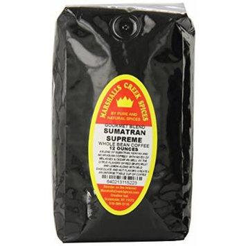 Marshalls Creek Spices Gourmet Whole Bean Coffee Bag, Sumatran Supreme, 12 Ounce