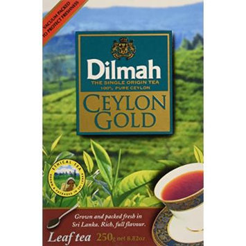 Dilmah, Ceylon Gold, Leaf Tea, 100% Pure Ceylon Tea, Grown and Packed in Sri Lanka, 250g per box, 1Kg total (Pack of 4)