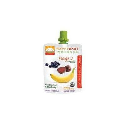Happy Baby Baby Food, Stage 2, Bananas, Beets & Blueberry OG2 3.5 oz. (Pack of 16)