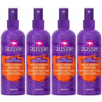 Aussie Hair Insurance Leave-In Conditioner 8 Fl Oz (Pack of 4)