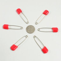 Eshop 12pcs Safely Pins Baby Child Infant Kids Stainless & Rustproof Diaper Pins+ Eshop Cable Tie (Red)