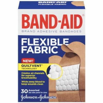 Band-Aid Brand Adhesive Bandages, Flexible Fabric, 30 Count (6 Pack)