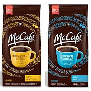 Mccafe Premium Ground Coffee 2 Flavor Variety Bundle: (1) Mccafe French Vanilla Ground Coffee, Light Roast, and (1) Mccafe Premium Breakfast Blend Ground Arabica Coffee, 12 Oz. Ea. (2 Bags Total)
