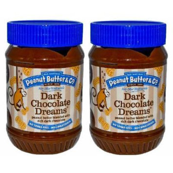 Peanut Butter & Co Dark Chocolate Dreams Peanut Butter Blend (Pack of 2) Large 28 oz Jars