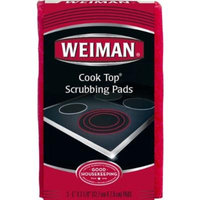 Weiman Cook Top Scrubbing Pads 3 Ct (Pack of 2)