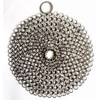 Essentials Stainless Steel Chainmail Round Scrubber, 7 x 7-Inch
