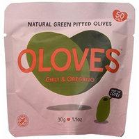 Oloves Chili & Oregano Snack Olives (Pack of 10) (1.1 Oz Bags)