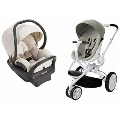 Quinny Moodd Stroller in Natural Delight with BONUS Maxi-Cosi Mico Max 30 Infant Car Seat and Base, Moon Birch
