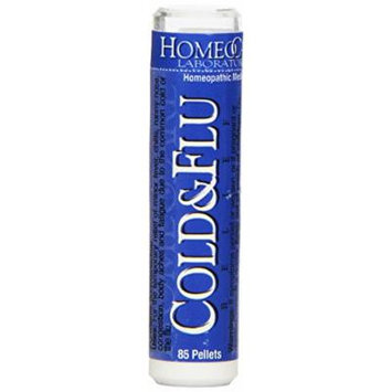 Homeocare Labs Cold & Flu Relief, 85-Pellets Tubes (Pack of 2)