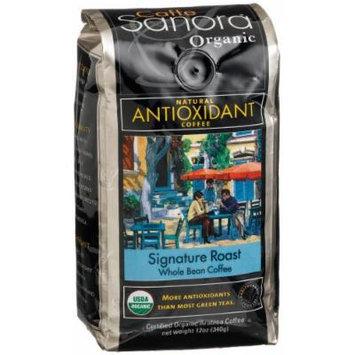 Caffe Sanora Organic Antioxidant-Rich, Signature Roast Whole Bean Coffee, 12-Ounce Bags (Pack of 2)