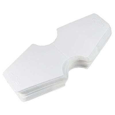 Ship From USA--HipGirl Brand Metal Hair Clips/Barrettes. Smooth Edge Won't Scratch Skin. Great for DIY hair bows, hairbow clips. (100pc Paper Fold Over Pony'O/Headband Cards