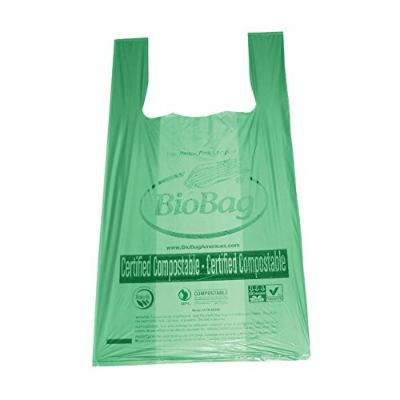 Compostable T-Shirt Bags, 10 Gallon