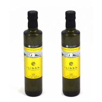 Iliada PDO Extra Virgin Greek Olive Oil Gourmet Selection - Kosher- 500ml - 2 Pack