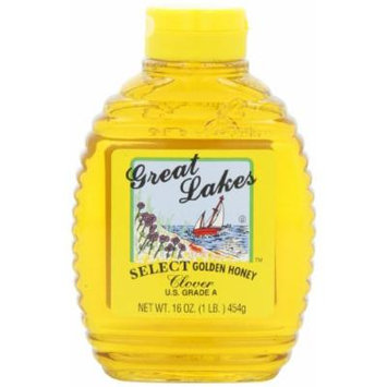 Great Lakes Select Honey, Clover, 16-Ounce Bottles (Pack of 6)