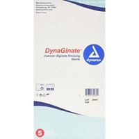 Dynarex Dynaginate Calcium Alginate Dressing, 5 Count/4 x 8 Inch
