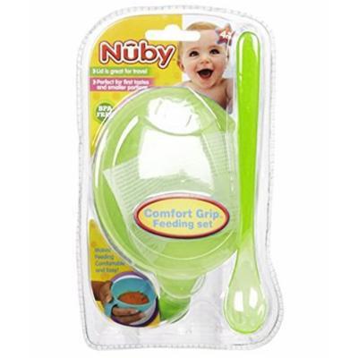 Nuby Comfort Grip Feeding Set - lime, one size