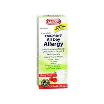 Leader Children`s All Day Allergy Liquid Cherry 4 oz (pack of 3)
