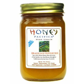 Brazilian Peppertree Raw Honey by Honey Pacifica - Unheated and Unprocessed Honey - Fresh from a California Beekeeper
