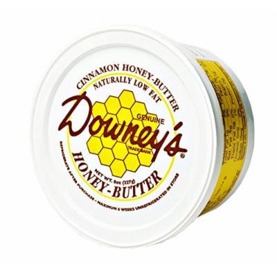 Downey's Natural Cinnamon Honey Butter, 8 Oz. Tub (Pack of 4)