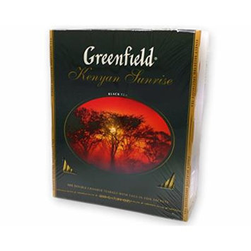 Greenfield Teas, Black Tea Kenyan Sunrise, 100 Teabags