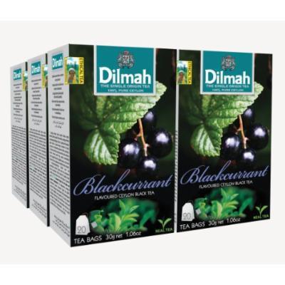 Dilmah, Fun Tea, Single Origin Pure Ceylon, Blackcurrant, 20 Count String & Tag, (Pack of 6)