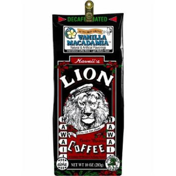 Hawaiian Value Pack Lion Coffee Ground Vanilla Macadamia Decaf 4 Bags