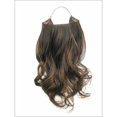 Hidden Halo Synthetic 18 Inch Curly (F26/613 Light Soft Red/Blonde High Lights)