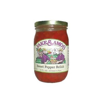 Jake & Amos Sweet Pepper Relish, 16 Ounce - 3 Pack