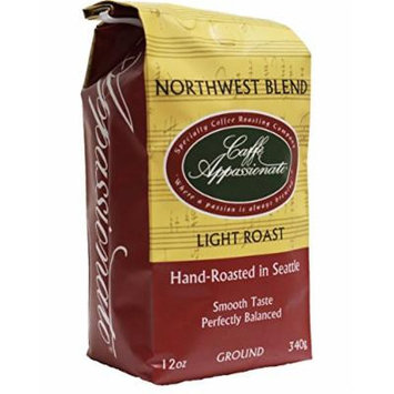 Caffe Appassionato Northwest Blend Ground Coffee 12-Ounce Bag (Pack of 3)